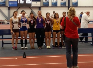 Place winners in the 2014 PA State Indoor Championships Pole Vault.