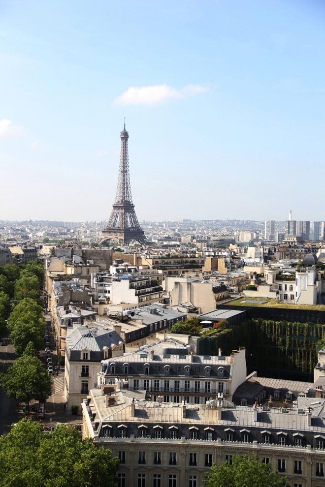 I get to climb the Arc de Triomphe to see things like this??? Sign me up!